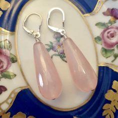 Festival Jewellery, Boho Jewellery, Pink Jewelry, Handmade Jewellery, Silver Jewellery, Earrings Handmade, Antique Jewelry, Vintage Jewelry, Jade Earrings