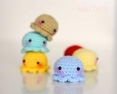 Tiny Octopus Kawaii Amigurumi plush SELECT COLOR by BramaCrochet