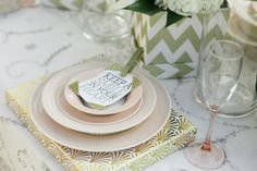 Sweet place settings: http://www.stylemepretty.com/florida-weddings/2014/10/14/hutchinson-island-surprise-proposal-shoot/ | Photography: Sampson Photography: http://www.sampsonphotography.com/