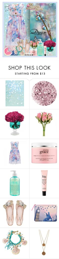 """""""Dream away"""" by mylovingbebegerardo ❤ liked on Polyvore featuring beauty, Deborah Lippmann, LDF Silk, Forever New, philosophy, Miu Miu, Marc by Marc Jacobs, Betsey Johnson, Bee Charming and Linda Lee Johnson"""