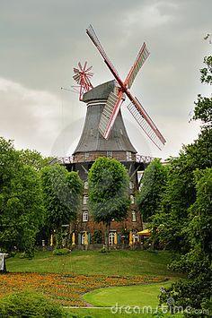 Windmill in Bremen, Germany by Ifeelstock, via Dreamstime