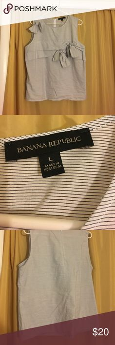 Bow  Blouse Bought and worn once. Too big for me but my loss is your gain. Any questions please ask, I'm open to offers. Bundle and Save!! Banana Republic Tops