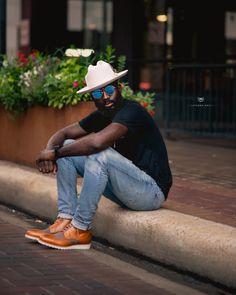 Fedora Fashion, Men's Fashion, Beard Fashion, Mens Boots Fashion, Fashion Menswear, Stylish Men, Men Casual, Stylish Caps, Black Men Street Fashion