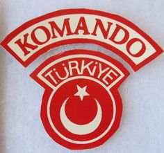 TURKEY ARMY COMMANDO KOMANDO TAB & PATCH INSIGNIA ORIGINAL COLD WAR Vintage Army Patches, Crests, Special Forces, Cold War, Chicago Cubs Logo, Badges, Wings, Military, Vintage