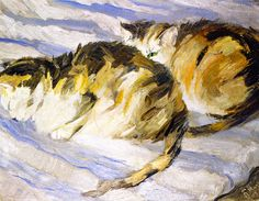 Franz Marc: Two Grey Cats (Study of Cats, II), 1909.