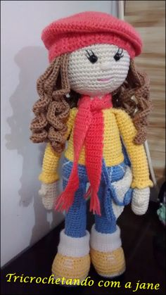 Watch This Video Incredible Crochet a Bear Ideas. Cutest Crochet a Bear Ideas. Crochet Amigurumi Free Patterns, Crochet Doll Pattern, Col Crochet, Crochet Baby, Knitted Dolls, Crochet Dolls, Crochet Crafts, Crochet Projects, Diy Crafts