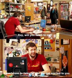 Literally one of my favorite lines ever written. British Sitcoms, British Comedy, It Crowd, British Humor, Hello It, Nerd Love, Laugh Out Loud, Favorite Tv Shows, Comedians