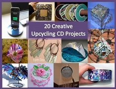 Craft, Home and Garden Ideas - 20 Creative Upcycling CD Projects