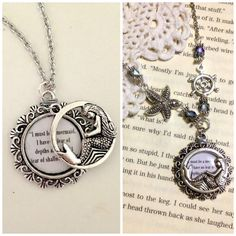 If youre a Mermaid, this necklace is for you!  - Pendant piece is about 1 wide/long - Silver mermaid pendant overlays text - Text reads: I must