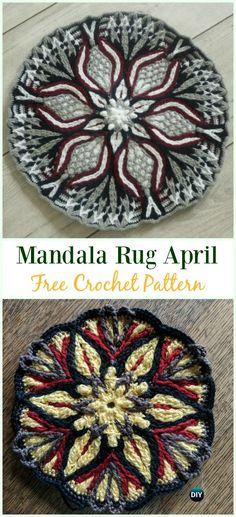 Crochet Mandala Rug April Free Pattern - #Crochet Area #Rug Ideas Free Patterns