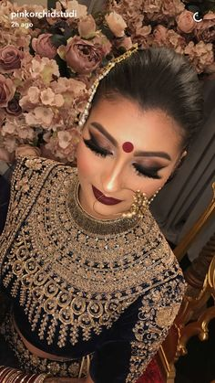The day a woman gets married is one of the most anticipated days of her life, and most brides want everything to be just perfect. To that precise end, there is a long product line of bridal make up, all promising to turn a normal woma Asian Bridal Makeup, Indian Makeup, Bridal Makeup Looks, Bride Makeup, Bridal Looks, Indian Beauty, Wedding Makeup, Arabic Makeup, Indian Wedding Outfits