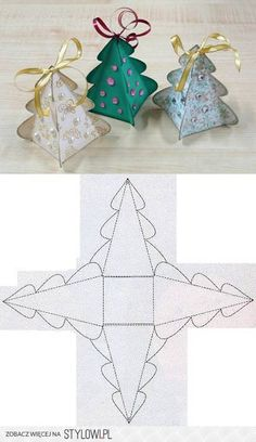 DIY Christmas Tree Box Template DIY Projects | UsefulDI… na Stylowi.pl
