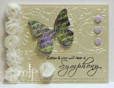 Prickley Pear Rubber Stamps: Butterflies 2 Clearly Beautiful Stamp Set, Butterfly Die, Symphony