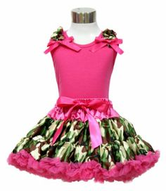 Hot Pink Top Camouflage Shoulder Camo Pettiskirt Girl Clothing Outfit Set 1-8Y (4-5T) Princess-Wardrobe http://www.amazon.com/dp/B00KG5U478/ref=cm_sw_r_pi_dp_URCLtb031V11E899