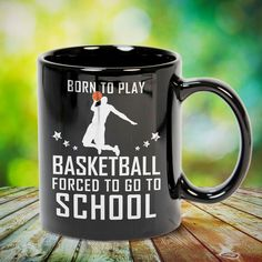 Born To Play Basketball Forced To Go To School Great basketball t shirt/mug/bag gift for family, friends, basketball players, basketball lovers or any women, men, girls, boys you know who loves basketball. Perfect basketball t shirt, funny basketball tshirts, Funny basketball Shirt for Men and Women, basketball shirt for women, basketball shirt for men, basketball gifts for teen girl boy. - get yours by clicking the link in my profile bio.