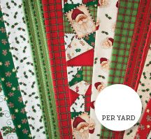 Jolly St. Nick Quilting Fabric