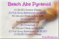 Beach Abs Pyramid