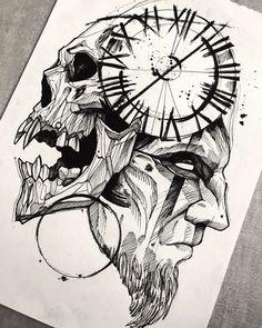 Art créé par João Mendes d& Cliquez pour rencontrer d& emplois. Skull Tattoo Design, Skull Tattoos, Body Art Tattoos, Sleeve Tattoos, Tattoo Designs, Owl Tattoo Drawings, Tattoo Sketches, Art Sketches, Art Drawings