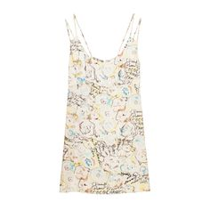 View this item and discover similar for sale at - Iconic Karl Largerfeld's colourful hand drawing prints mini dress. Double spaghetti shoulder straps with center back zipper with a Chanel logo button closure. Chanel Outfit, Chanel Logo, Camellia, Day Dresses, Fashion Outfits, Women's Fashion, Printed Dresses, My Style, Mini