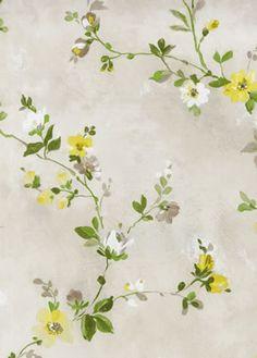 Rosemore Fine Decor Wallpaper2605-21641 #grey #yellow #floral #pretty #diy #homedecor
