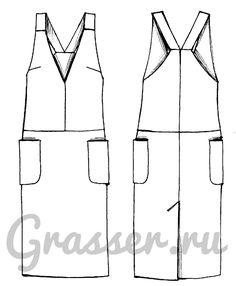 Выкройка №356, платье-сарафан, магазин выкроек grasser.ru #sewing_pattern
