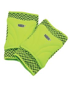Another great find on #zulily! Lime 'ZIGZAG' Beginner Volleyball Knee Pads #zulilyfinds