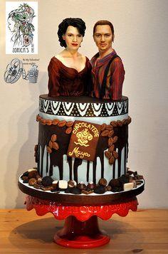 Chocolate (Johnny Depp and Juliette Binoche) - Be My Valentine Movie Nights Collaboration - Cake by Hajnalka Mayor