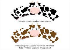 Mamá Decoradora: Kit Imprimible La Granja Gratis Farm Animal Birthday, Farm Birthday, Birthday Crafts, Cow Cupcakes, Farm Animal Cupcakes, Farm Cupcake Toppers, Cupcake Wrappers, Farm Party Decorations, Cow Birthday Parties