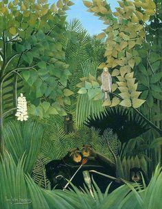 Henri Rousseau - Joyeux farçeurs - The merry jesters (1906)