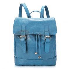 Rome blue oil leather shoulder bags