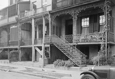 Bloodgood's Row, 306, 308 & 310 Monroe Street, Mobile, Mobile County, AL.<3