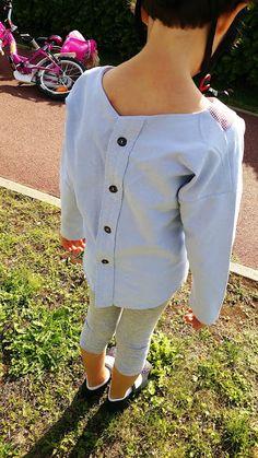 Chemise homme recyclée en Trop-Top (patte de boutonnage conservée)