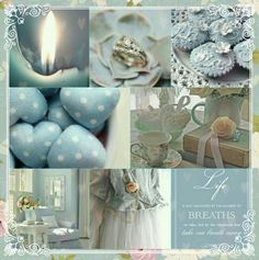 and Blue satin sashes Quote Collage, Color Collage, Inspiration Wand, Color Inspiration, Collages, Mood Colors, Beautiful Collage, Duck Egg Blue, Jolie Photo