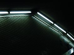 """There is no route out of the maze. The maze shifts as you move through it, because it is alive."" #photography #words #quotes #fluorescent #lamp #subway #station #maze #tile #dark #pale #sad #ahsheegrek"