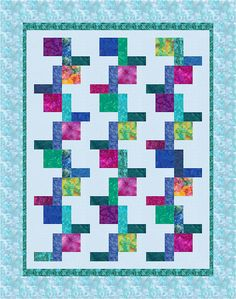 L-block quilt by Carol A Ashley. The quilt block in this design uses just three pieces, making it an easy design for a beginning quilter.  Great DIY project.