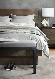 Hudson Nightstands with Wood Base - Nightstands - Bedroom - Room & Board