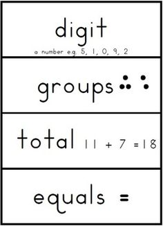 Math Terms Word Wall - 25 pages $