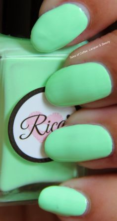 Rica Summer Mint!  http://talesofcoffeelacquerandbeauty.blogspot.in/2014/08/rica-summer-mint-swatches-review.html
