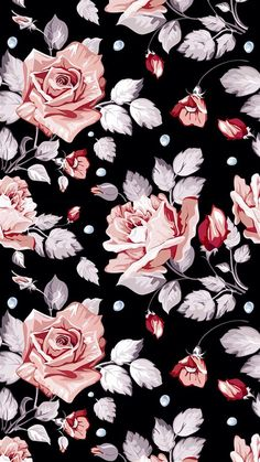 Uploaded by Denise Porto. Find images and videos about wallpaper, flowers and background on We Heart It - the app to get lost in what you love. Floral Pattern Wallpaper, Flower Wallpaper, Screen Wallpaper, Wallpaper Backgrounds, Trendy Wallpaper, Iphone Wallpaper Vintage Hipster, Vintage Backgrounds, Wallpaper Patterns, Retro Wallpaper