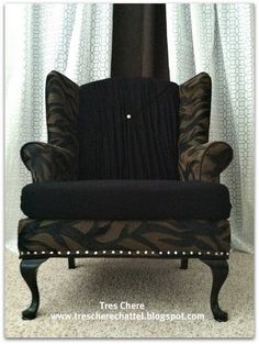 This is a painted chair.I don't know if I would be balsy enough to pull this off. What about white pants?