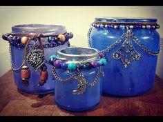 Cosmic Boho Candle Holders- D.- Legged Life holder bedroom Boho Candle Holders- D. Bohemian Crafts, Hippie Crafts, Boho Diy, Bohemian Decor, Bohemian Bedrooms, Bohemian Living, Mason Jar Crafts, Bottle Crafts, Diy Candles Easy