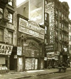 Old New York: The lower east side at 287 E. Houston in the 1920s.