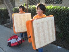 cute grilled cheese costume #halloween taken from http://blog.hellodesign.com/wp-content/uploads/2010/11/grilledcheesecostume.jpg