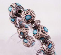Just for fun polymer bead bracelet.