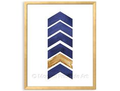Navy Art Arrow PRINTABLE Art Navy Blue by ModernPrintableArt