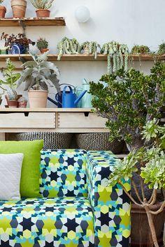 ARTEFLY Ikea Klippan cover ESTRELLA - interior styling / ornamental star motif pattern, morrocan style