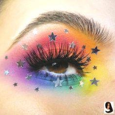 Eye Makeup Meet one of 10 Fi .-Eye Makeup Treffen Sie einen von 10 Finalisten in unserem … Eye Makeup Meet one of 10 finalists in our Pride Makeup Ideas an Eye Finalist flowersofdoombeauty Makeup you sugarpillp meet our from - Makeup Eye Looks, Eye Makeup Art, Eye Art, Eyeshadow Makeup, Eyeshadow Palette, Fairy Makeup, Mermaid Makeup, Revlon Eyeshadow, Star Makeup