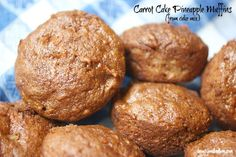 Shortcut pineapple carrot cake muffins begins with a cake mix. SO moist and delicious! www.beautyandbedlam.com