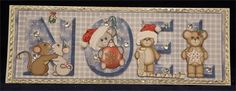 Mouse NOEL (12 x 4 decoupaged DL card)
