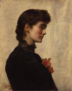 Marion Collier (née Huxley)  John Maler Collier - 1882-1883